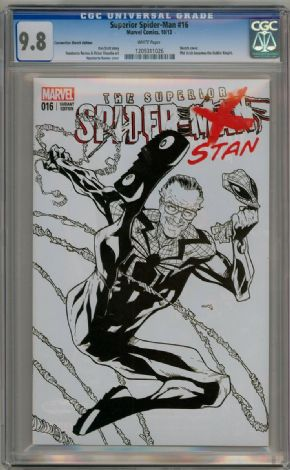 Superior Spider-man #16 Fan Expo Stan Lee Sketch Variant CGC 9.8 Marvel comic book